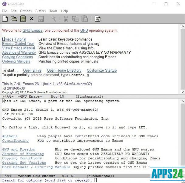 Emacs для Windows cкачать [бесплатно]